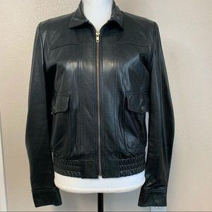 Vintage Michael Kors sheepskin bomber jacket